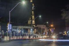 San Pedro Cathedral na noite na cidade de Davao Fotos de Stock