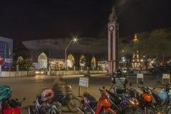 San Pedro Cathedral nachts in Davao-Stadt Lizenzfreie Stockfotografie