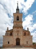 San Pedro - Church. Lerma (Spain) church in front of the sky royalty free stock photography