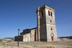 San Pedro Church, Castrillo de Solarana, Burgos, Spain Stock Image