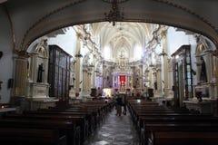 San Pedro Church in Cholula, Puebla, Mexico Stock Image