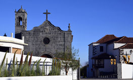 San Pedro Church i Vilaflor, Tenerife, kanariefågelöar Arkivfoto