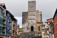 San Pedro church in Zumaia, Guipuzcoa, Basque Country (Spain) Royalty Free Stock Image