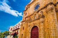 San Pedro Claver Cathedral på Cartagena de Indias, Colombia arkivfoto