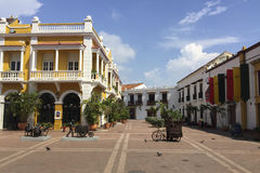 San Pedro Claver Square in Cartagena, Colombia Royalty Free Stock Photo