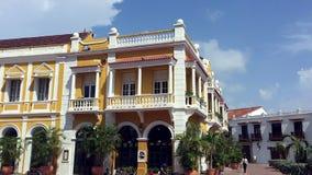 San Pedro Claver Square in Cartagena, Colombia stock video footage