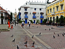 San Pedro Claver square, in the historic city of Cartagena, Colombia Stock Image