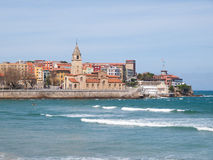 San Pedro curch in Gijon Royalty Free Stock Image