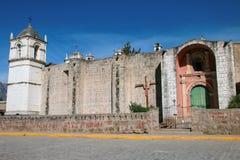 San Pedro de Alcantara Church i Cabanaconde, Peru Royaltyfria Foton
