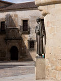San Pedro de Alcantara statue in Caceres Royalty Free Stock Photo