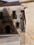San Pedro de Alcantara statue in Caceres Royalty Free Stock Photo
