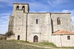 San Pedro De antioquÃa kościół w Modubar De San Cibrian Fotografia Stock