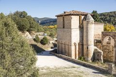 San Pedro De Arlanza monaster w Hortiguela, Burgos, Hiszpania zdjęcie royalty free