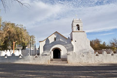 San Pedro de Atacama Church, Chile. Adobe Church at San Pedro de Atacama, Chile Stock Images