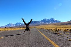 San Pedro De Atacama drogi Zdjęcie Stock