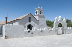 San Pedro de Atacama - igreja imagens de stock