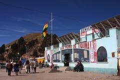San Pedro de Tiquina Stockfoto
