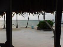 San Pedro Kapitän-Morgans, Amber Caye Belize Stockfotos