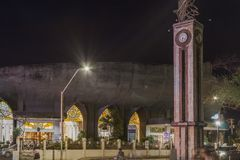 San Pedro katedra przy nocą w Davao mieście Obrazy Stock