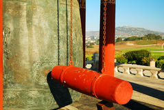 San Pedro Korean Bell. The ringer at the San Pedro Korean Peace Bell royalty free stock images