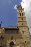 San Pedro kyrka i Fraga, Huesca landskap, Aragon, Spanien arkivbild