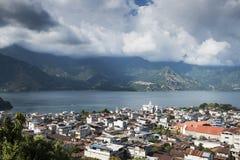 San Pedro and lake Atitlan royalty free stock image