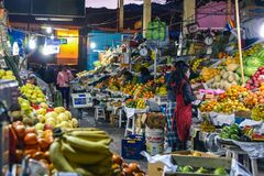 San Pedro Market/Cusco/Peru/07-14-2017 Royaltyfri Bild