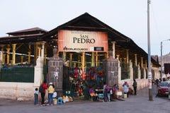 San Pedro Market/Cusco/Peru/07-14-2017 Royaltyfria Foton