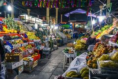 San Pedro Market/Cusco/Peru/07-14-2017 Royaltyfri Foto