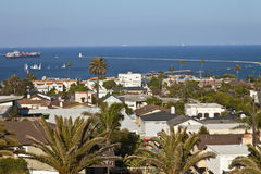 San Pedro neighborhood overlooking the Pacific oce Stock Photo