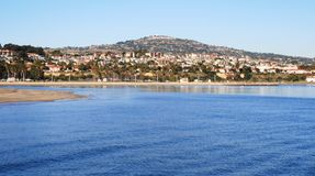 San Pedro Panorama. Panoramic view of the suburbs from the San Pedro Pier, California Royalty Free Stock Photos