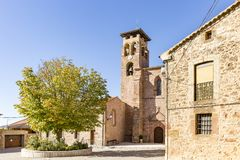San Pedro parish church in Retortillo de Soria town. Province of Soria, Spain Royalty Free Stock Image