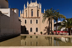 San Pedro's Church Benissa. Benissa is one of the oldest towns on the Costa Blanca, The medieval town centre has been largely preserved with its town square Stock Images