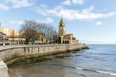 San Pedro's church in Gijon, Asturias Royalty Free Stock Photos