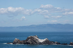 San Pedro skała, Pacifica, San Mateo okręg administracyjny, Kalifornia Obrazy Stock