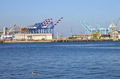 San Pedro terminals Southern California. Royalty Free Stock Images