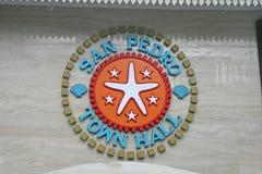 San pedro town hall Stock Image