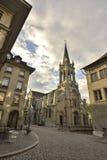 San Pedro y Paul Church de la ciudad vieja de la UNESCO de Berna Suiza Fotografía de archivo libre de regalías