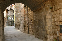 San Pellegrino - Middeleeuws district - Viterbo Royalty-vrije Stock Foto's