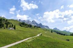 Free San Pellegrino Pass, Moena , Trentino Alto Adige, Alps, Dolomites, Italy: Landscape At The San Pellegrino Pass 1918 M.It`s A Stock Photography - 153926822