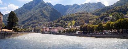 San Pellegrino Terme. Color image stock images
