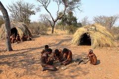 San People in Namibia stock photo