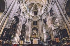 San Peter Church Altar a Gand Fotografia Stock