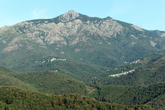 San Petrone mountains in Corsica Royalty Free Stock Image