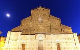 San Petronio Basilica on Piazza Maggiore in Bologna Royalty Free Stock Images