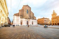 San Petronio church in Bologna Stock Image