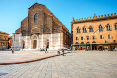 San Petronio church in Bologna Royalty Free Stock Images