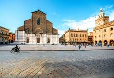 San Petronio church in Bologna Stock Photos