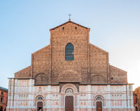 San Petronio church in the Piazza Maggiore in Bologna, Italy. Bologna emilia romagna italy city europe street Stock Photography