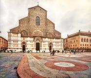 San Petronio incomplete church Bologna stock photography